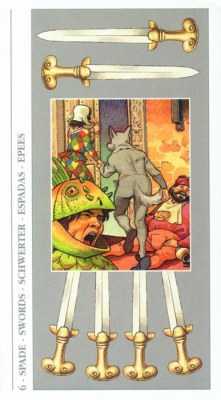 DECAMERON TAROT галерея таро и значения  - Страница 3 Swords06
